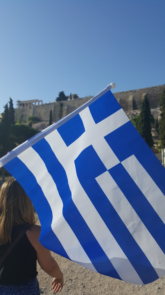 greek hand flag